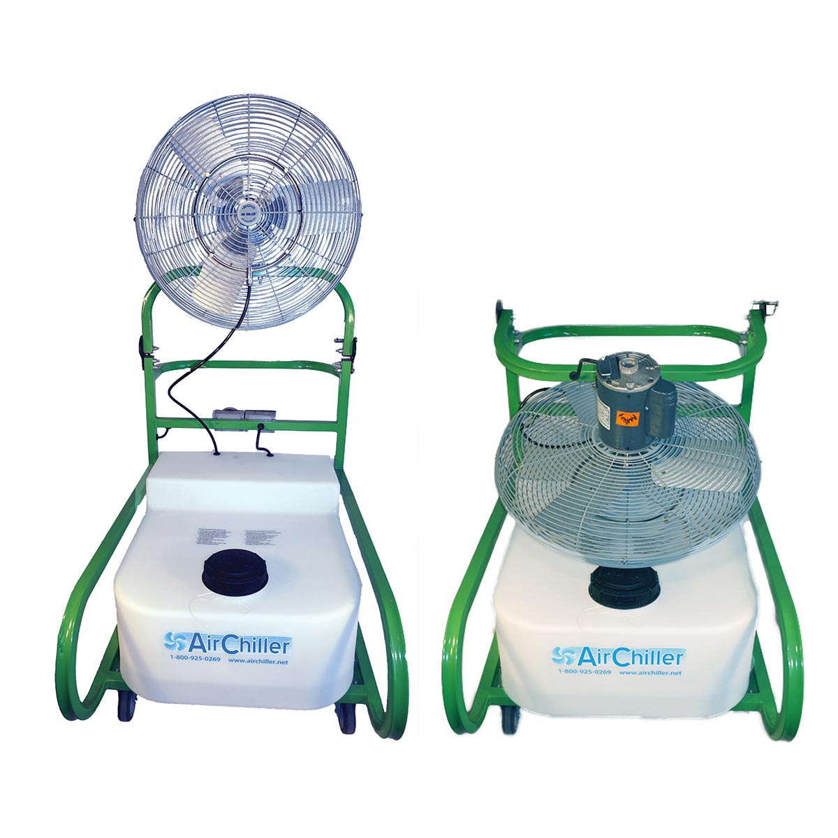 Air Chiller FD-24 Inch Misting Fan Evaporative Cooler 12000 cfm 32 gallon Fold Down Top