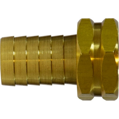 Brass Garden Hose Swivel 3/4in FGHX Swivel X 1/2in Hose Barb [8.705-008.0] 30032