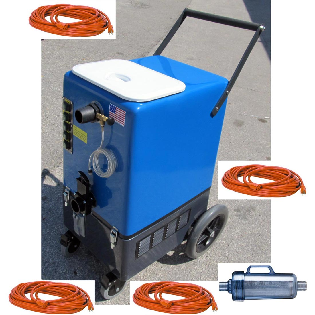 DriStorm SBM-GO-A-6 Goliath 6.6 Flood Pumper 26gal Quad 6.6 Vacs Pressure Washer Recovery 120v with Lint Filtration