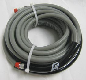 Pressure Washing Hose Gray 3000psi 1wire 50 ft Solid X Solid 8.925-285.0  3/8in ID 89252850
