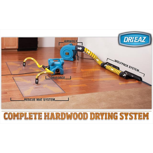 Drieaz Complete Hardwood Floor Drying Package F211, F286, F228, F243  [20151117]