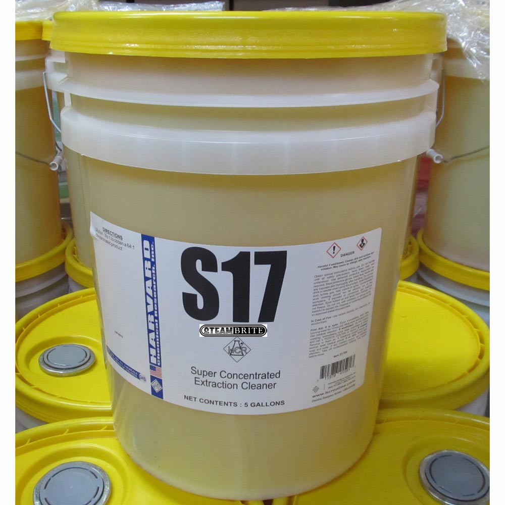 Harvard Chemical S17 Super Concentrated Extraction Cleaner 5 gallons (8 container minimum)