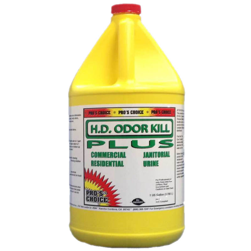 Pros Choice: HD Odor Kill Plus - Animal, Body, Mold, Decay, Rot, & Smoke odor eliminator - 1 Gallon Single