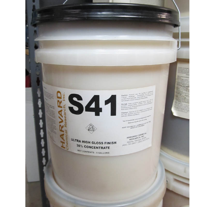 Harvard Chemical S41 Ultra High Gloss Finish 38% Concentrate - 5Gal Pail