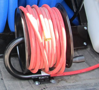 Clean Storm Live Reel with 100 ft Hot Water Garden Hose 3/8in ID Hose included SBM100GL