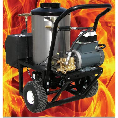Pressure Pro 3230-15G1 Electric Hot Pressure Washer 3 gpm 1500 psi General Pump 2 Wheel Portable 230 volt 12 amp