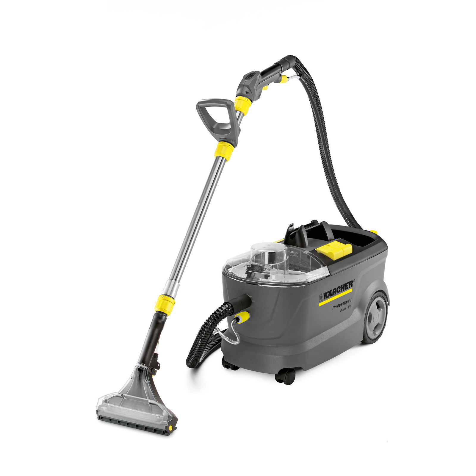 Karcher 1.100-133.0 Puzzi 10/1 Carpet and Upholstery Cleaning Machine 100  2.6 Gal 12 psi 8 ft Hose Set and Dual Tool Set Freight Included