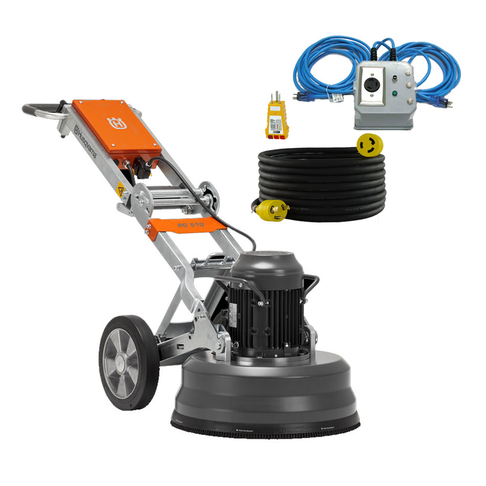 Husqvarna PG 510 Concrete Floor Grinder 240v 15Amp 4Hp 20 Inch 967932005 Power Supply L6-30P [PG510] No Generator Required
