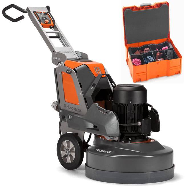 Husqvarna PG 830 S Concrete Grinder 240 Volt 3 Phase 32.7 inch 15 Hp PG830S 9679777024 w/ tool Box and Freight Inc