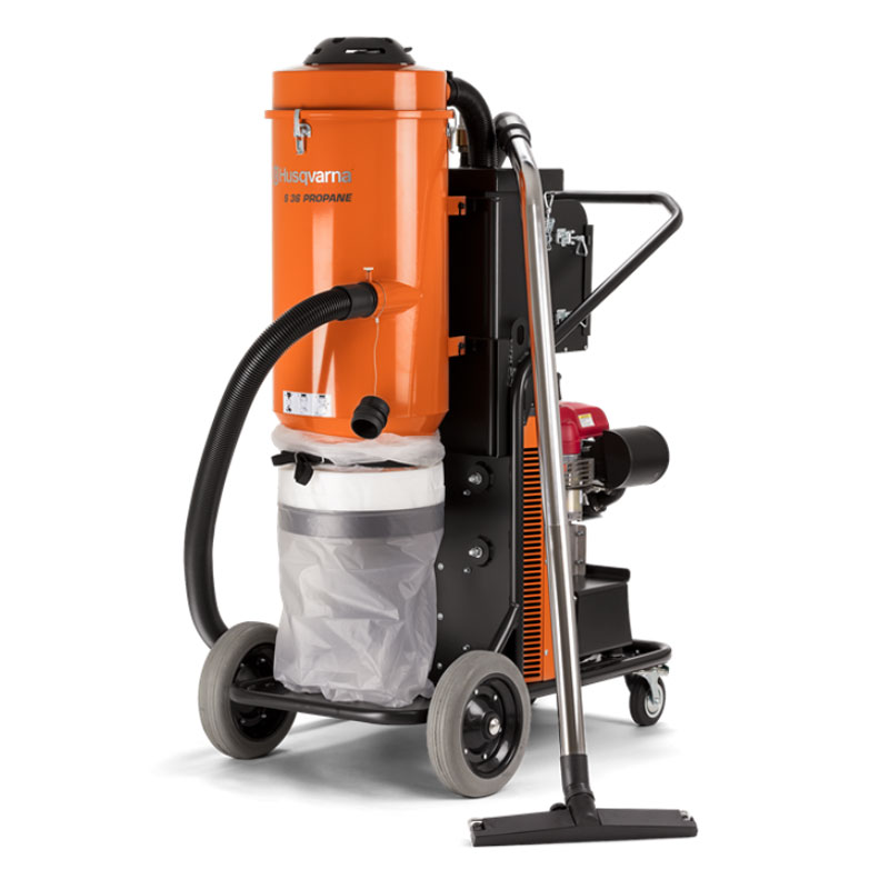 Demo Husqvarna S36P Propane Vacuum Dust Extractor Slurry Management 967760101A Honda 10Hp Used S 36 P Pullman Ermator 285cfm A Rated