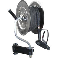 Hydrotek AR425 Wall or 1-1/4in Tube Mount Pivoting Reel 5000psi Pressure Washing 150ft Capacity