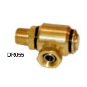 Hydrotek DR055 3/8in Fip X 3/8in Mip 90 degree Elbow Brass Hose Reel Swivel 3000psi