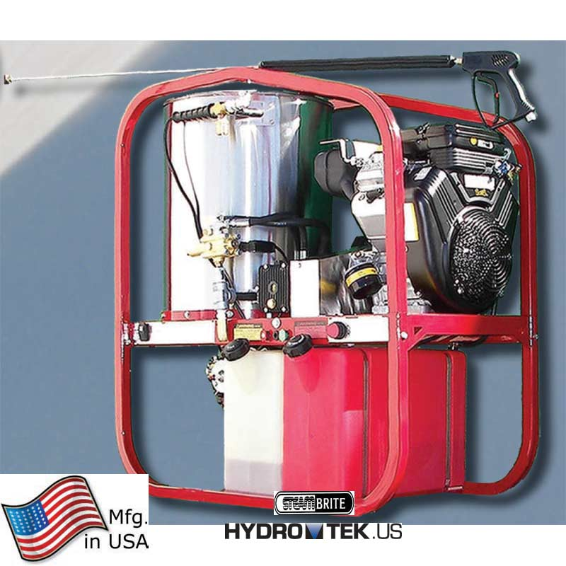 Hydrotek SK30005VH Skid Hot Gas Pressure washer 3000 psi 4.8gpm 479cc Gas Engine 16 Hp FREE Shipping