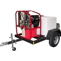 Hydrotek T185SKH HOT Pressure Washer Trailer 200 gallon tank and reels Only FREE Shipping