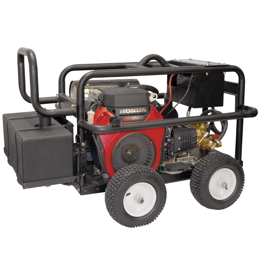 BE Pressure PE-3024WEBCOM 3000psi 8gpm Honda 688cc Electric Start Belt Drive Industrial Pressure Washer Discount shipping
