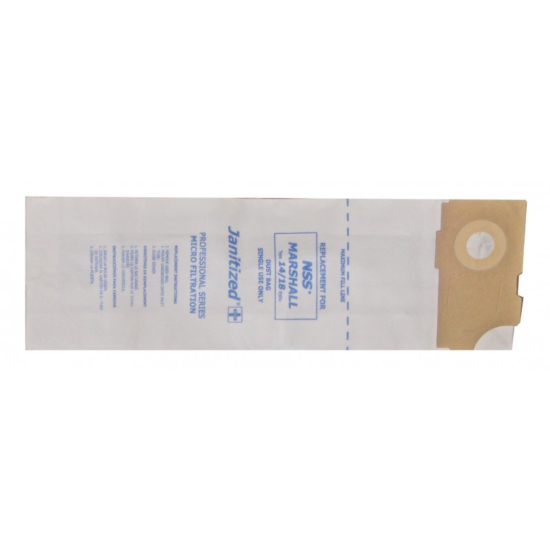 NSS Marshall 14/18 Paper Filter Vacuum Bags 10/Pack (8.684-855.0)