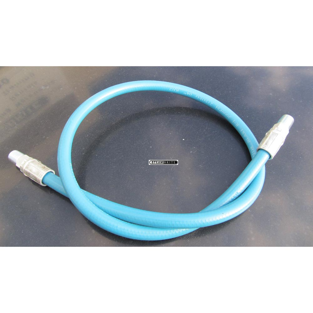 Jumper Solution Hose 3000Psi 1/4in ID X 12in Long X 1/4in Mip Ends Non Marking Jacket 725559469169