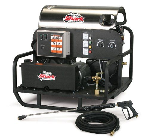 Shark SSE-503007B: Rugged, Skid, Electric Powered, Pressure Washer-4.8GPM-3000PSI-10HP-230V-30Amps 1.575-621.0