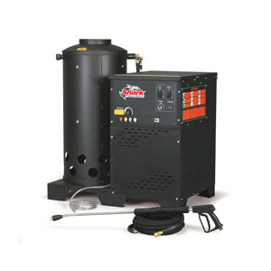 Karcher Shark Natural Gas Cabinet-Style Hot Water Pressure Washer 5gpm 2000psi 8.2HP 230V 36Amps HNG-502007A 1.109-669.0