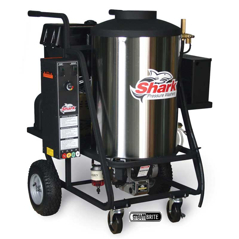Shark HPB-352007A: Handtruck, Electric, Hot Water, Pressure Washer-3.5GPM-2000PSI-5HP-230V-23Amps-