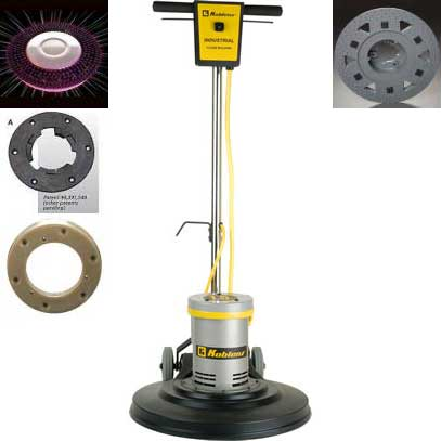 Koblenz 17in Light Weight Floor Machine International Starter Package (220-240 volts International Use)