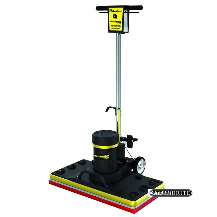 Koblenz SP-2815 Accelerator Rectangular 28X14 Orbiting Pad 1.5 HP motor 3500 RPM Floor Machine (square dry scrub strip) (Discount Shipping)