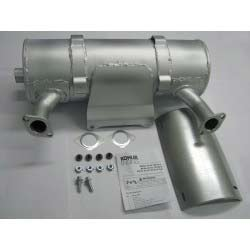Kohler 62 786 03-S PTO Canister Muffler Kit for CH940, CH980, CH1000 Engines Discharge Opposite Starter