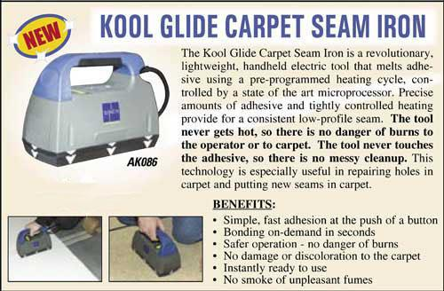 Hydroforce Kool Glide Seam Iron Ak086a Carpet