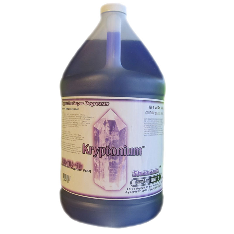 Shazaam SBM230 Kryptonium 1 Gallon High ph Degreaser Degrease All Surface Types (Purple)