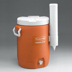 "WATER COOLER, 5 GL, ORANGE,19""H"