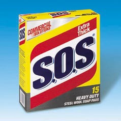 SOS Pads Case S.O.S INST. SOAP PAD 12/15 PK CLO 88320  180 units