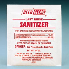 BEER CLEAN SANITIZER 100pp