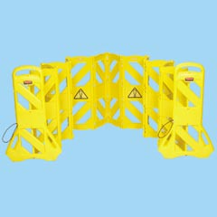 PORTABLE MOBILE BARRIER, YELLOW