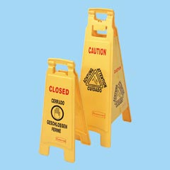 FLOOR SIGN, CAUTION, 37in