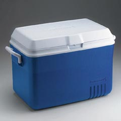ICE CHEST, 48 QT., BLUE