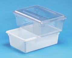 "9""DEEP FOOD BOX-CLEAR"