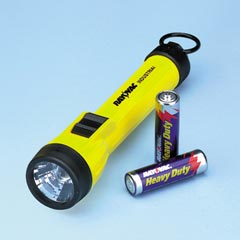 FLASHLIGHT RYV12AAB WITH 2 AA BAT