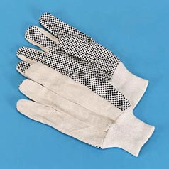 PVC DOT COTTON CANVASGLOVE