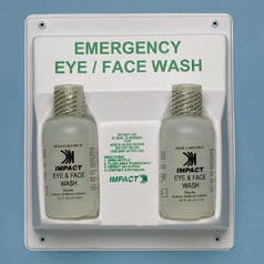 Eye and Face Wash Station Double Bottle