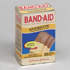 ANTIBIOTIC ADHESEVE BAND-AID BANDAGES 20/BX