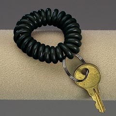 WRIST KEY COIL CHAIN-BLACK