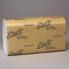 Kimberly Clark: SCOTT SINGLE FOLD TOWEL,WHITE
