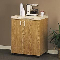 Rubbermaid Beverage Mate Oak Cabinet
