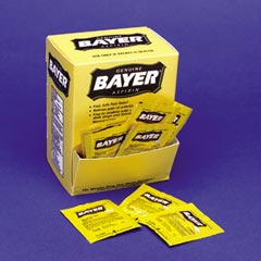 BAYER ASPIRIN, FIRST AID 2/PK