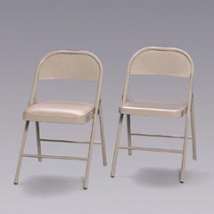 CHAIR, STEEL,FLDG,4/CT,BGE