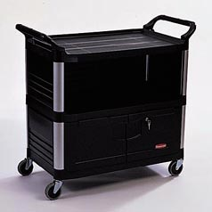 X-TRA EQUIPMENT CART 3-SIDED, BLACK