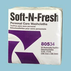 SOFT'N FRESH WASHCLOTH,1/4 FOLD,1-PLY