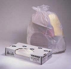 40X46 WHITE .70MIL trash can liners