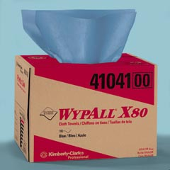 Kimberly Clark KCC41041 WYPALL X80 SHOPPRO WIPE, BLUE