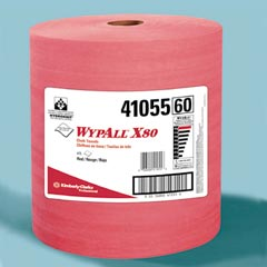 Kimberly Clark: WYPALL X80 SHOPPRO WIPER,ORANGE,JUMBO ROLL